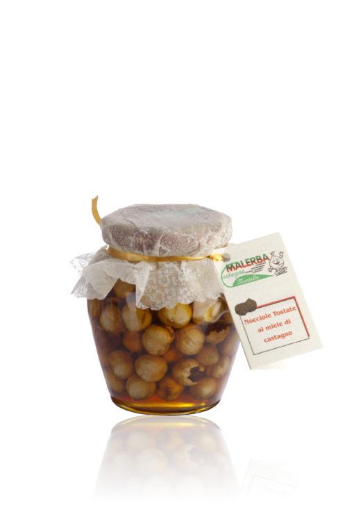 Nocciole tostate al miele di castagno